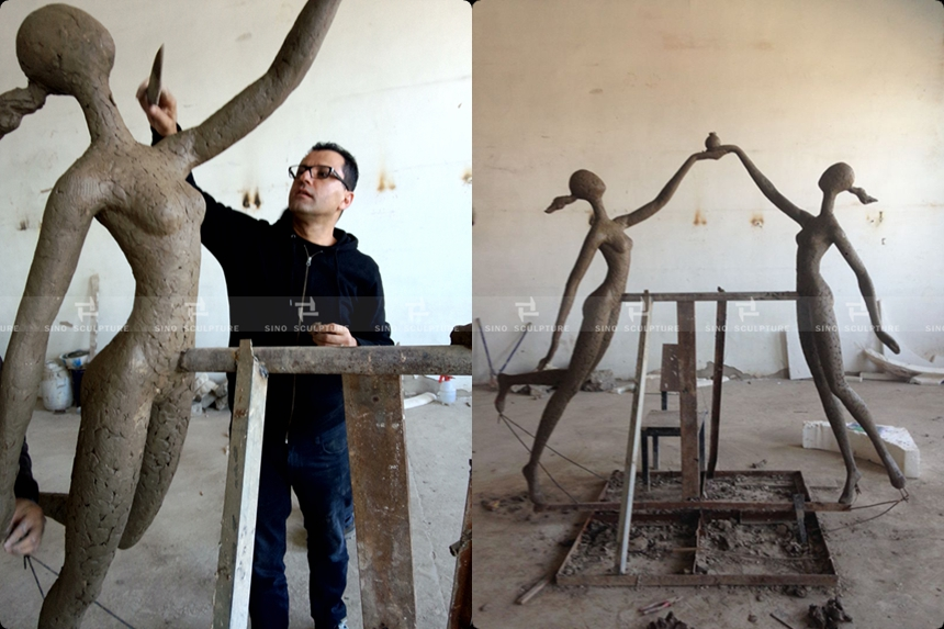 Clay mould-casting-bronze-sculpture-australia-ayad-work-girl-school-custom.jpg